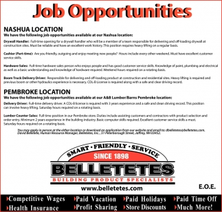 Ads For Belletetes Building Product Specialists In Jaffrey Nh